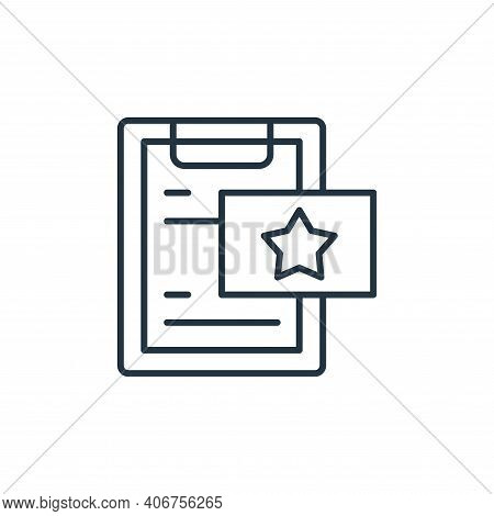 paperwork icon isolated on white background from leadership collection. paperwork icon thin line out