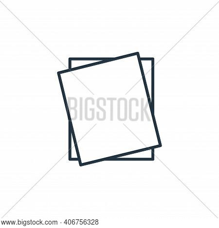 paper icon isolated on white background from stationery collection. paper icon thin line outline lin