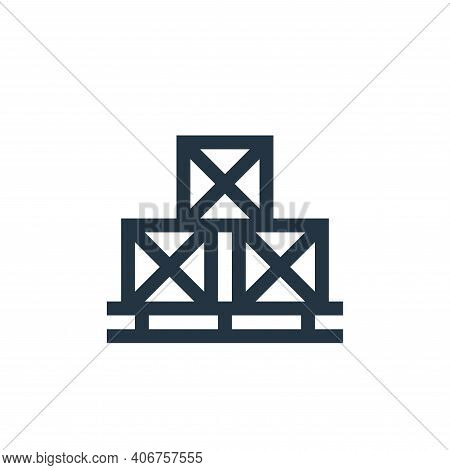 package icon isolated on white background from manufacturing collection. package icon thin line outl