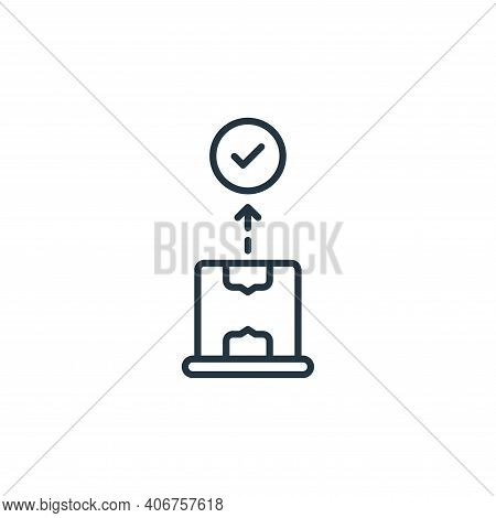 package icon isolated on white background from shipping and delivery collection. package icon thin l