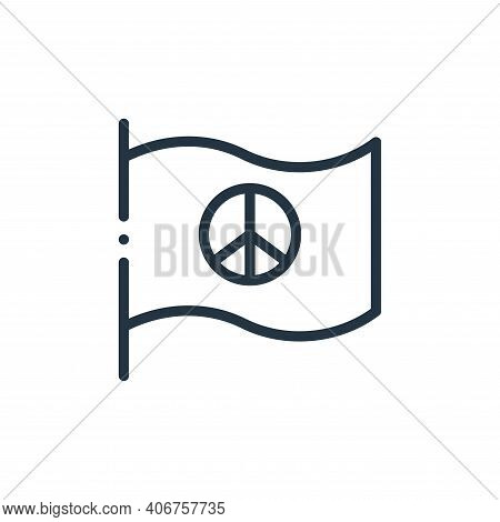 pacifism icon isolated on white background from world love collection. pacifism icon thin line outli