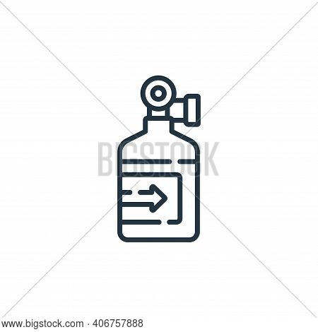 oxygen tank icon isolated on white background from auto racing collection. oxygen tank icon thin lin