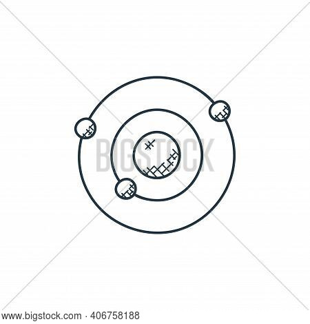 orbit icon isolated on white background from technology collection. orbit icon thin line outline lin