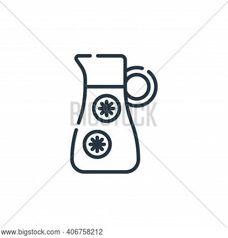 orange juice icon isolated on white background from vegan food collection. orange juice icon thin li