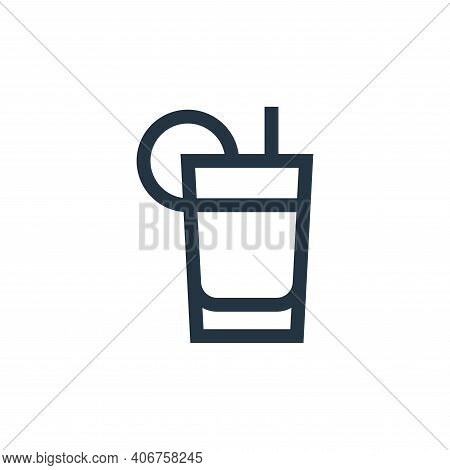 orange juice icon isolated on white background from nutrition collection. orange juice icon thin lin