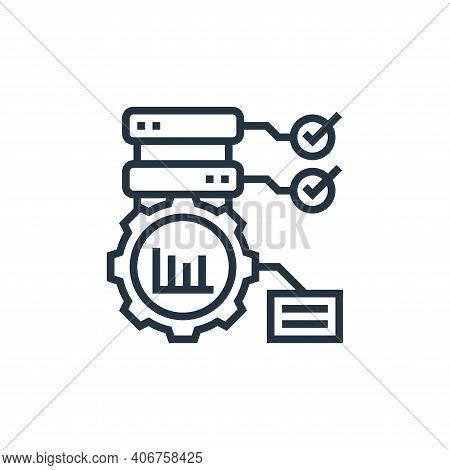 optimization icon isolated on white background from data analytics collection. optimization icon thi