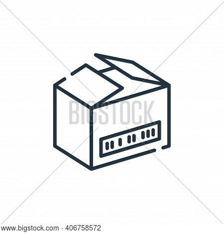 open box icon isolated on white background from delivery collection. open box icon thin line outline