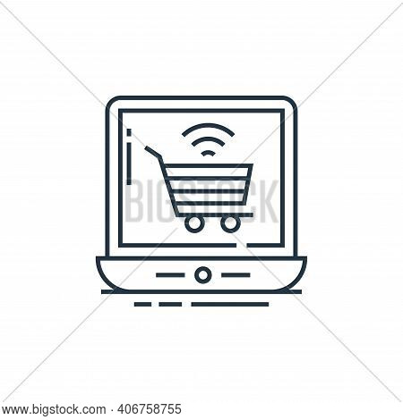 online shopping icon isolated on white background from technology devices collection. online shoppin