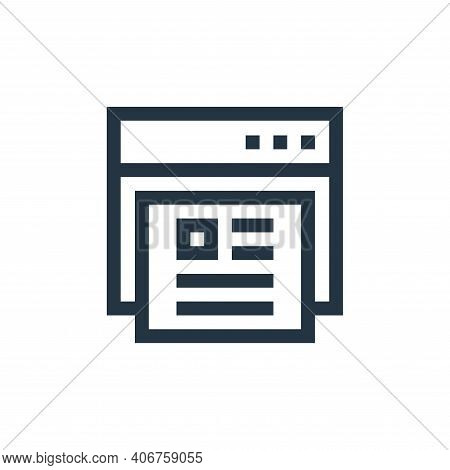 online profile icon isolated on white background from job resume collection. online profile icon thi