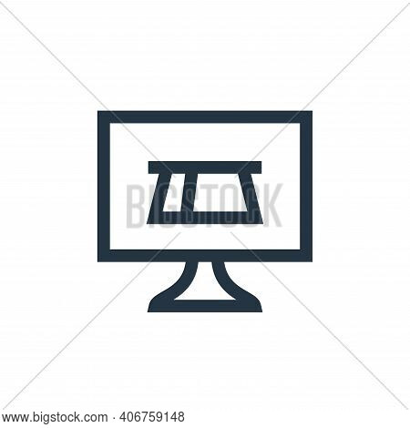 online payment icon isolated on white background from payment collection. online payment icon thin l