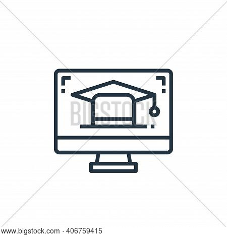 online education icon isolated on white background from work from home collection. online education