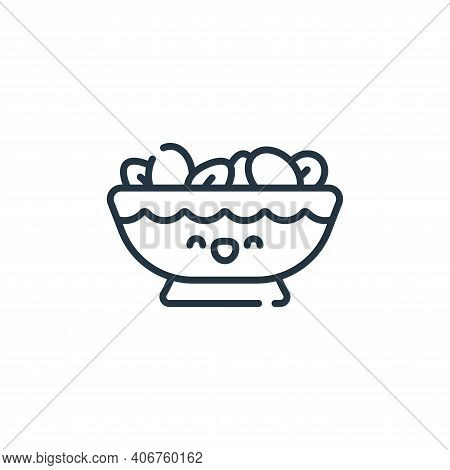 nuts icon isolated on white background from ramadan collection. nuts icon thin line outline linear n