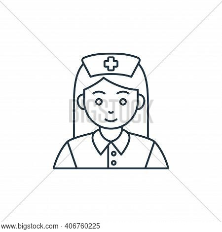 nurse icon isolated on white background from coronavirus covid collection. nurse icon thin line outl