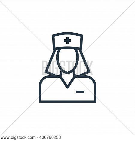 nurse icon isolated on white background from hospital collection. nurse icon thin line outline linea