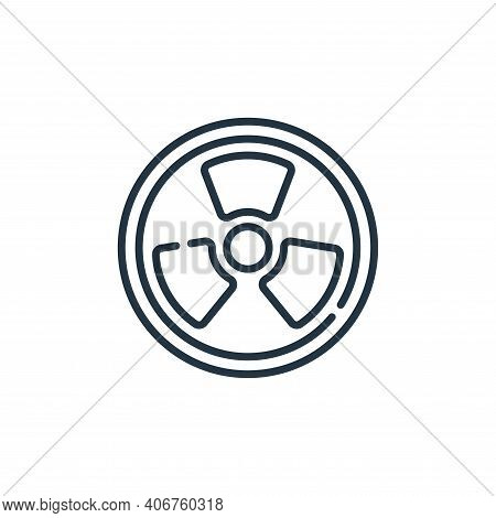 nuclear icon isolated on white background from climate change collection. nuclear icon thin line out