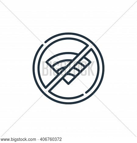 no wifi icon isolated on white background from signals and prohibitions collection. no wifi icon thi