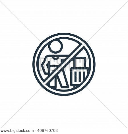 no travelling icon isolated on white background from pandemic collection. no travelling icon thin li