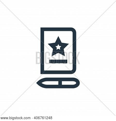 notebook icon isolated on white background from feedback and testimonials collection. notebook icon