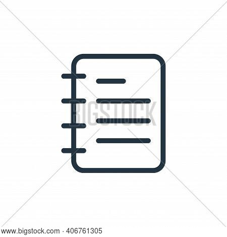 note icon isolated on white background from work office supply collection. note icon thin line outli