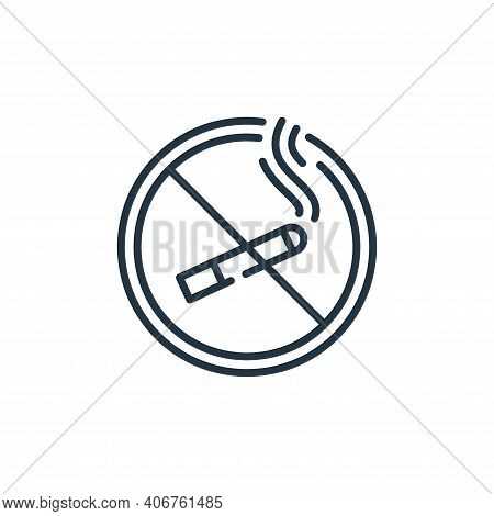 no smoking icon isolated on white background from mall collection. no smoking icon thin line outline
