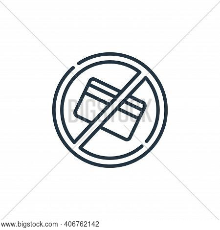 no credit card icon isolated on white background from signals and prohibitions collection. no credit