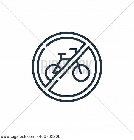 No Bicycle Vector Icon From Signals And Prohibitions Collection Isolated On White Background