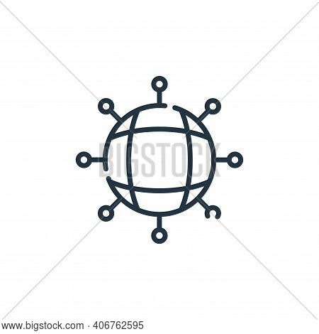 networking icon isolated on white background from web development collection. networking icon thin l