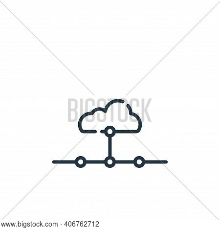 network icon isolated on white background from telecommuting collection. network icon thin line outl