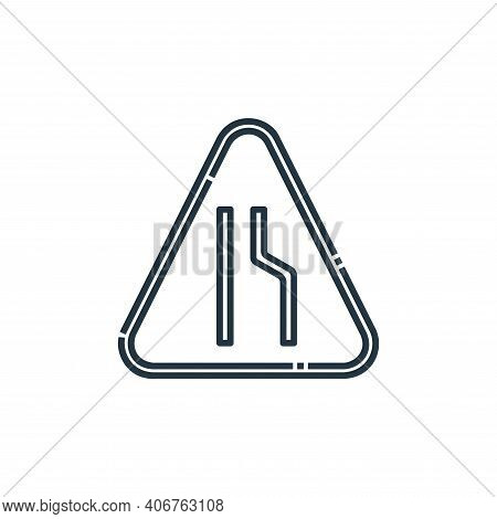 narrow road icon isolated on white background from signaling collection. narrow road icon thin line