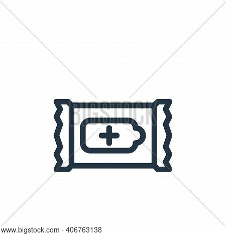 napkin icon isolated on white background from personal hygiene collection. napkin icon thin line out