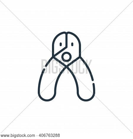 Nail clipper icon isolated on white background from pets collection. Nail clipper icon thin line out