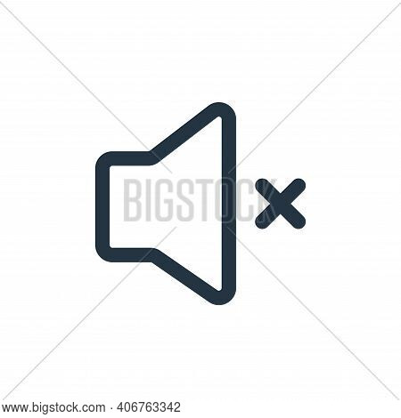 mute icon isolated on white background from multimedia collection. mute icon thin line outline linea
