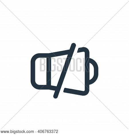 mute icon isolated on white background from device collection. mute icon thin line outline linear mu