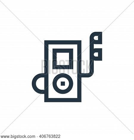 music player icon isolated on white background from electronics collection. music player icon thin l