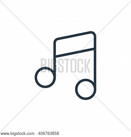 music notes icon isolated on white background from music instruments collection. music notes icon th