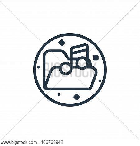music folder icon isolated on white background from music and sound collection. music folder icon th