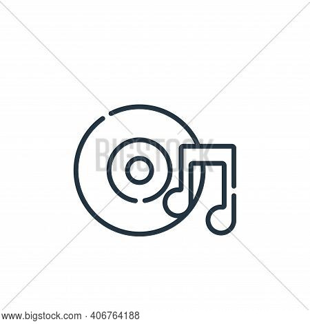 music icon isolated on white background from academy collection. music icon thin line outline linear