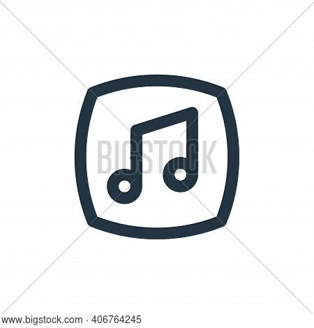music icon isolated on white background from basic ui collection. music icon thin line outline linea