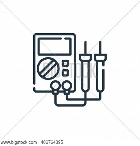 Multimeter icon isolated on white background from electrician tools and elements collection. Multime