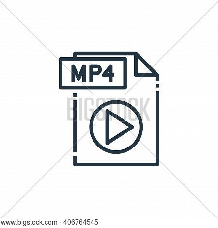 mp file icon isolated on white background from file type collection. mp file icon thin line outline