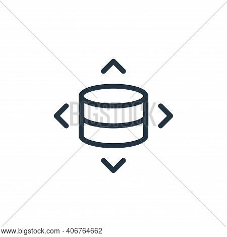 moving icon isolated on white background from work office server collection. moving icon thin line o
