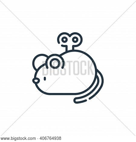 mouse toy icon isolated on white background from pets collection. mouse toy icon thin line outline l