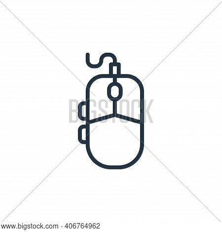 mouse icon isolated on white background from graphic design collection. mouse icon thin line outline