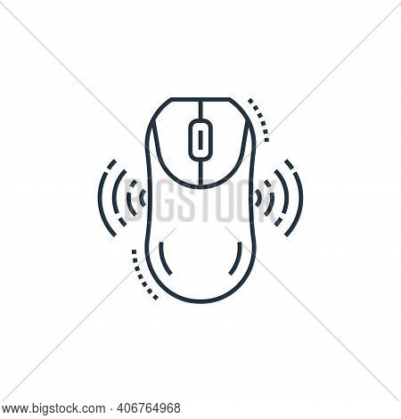 mouse icon isolated on white background from technology devices collection. mouse icon thin line out