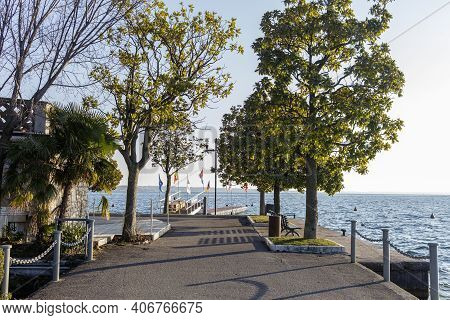 View Of The Lakefront Of Bardolino In The Province Of Verona.
