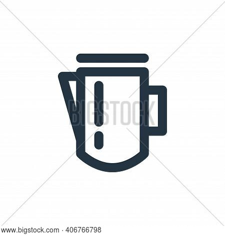 milk pot icon isolated on white background from coffee collection. milk pot icon thin line outline l