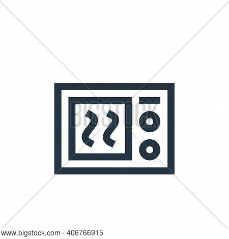 microwave icon isolated on white background from electronics collection. microwave icon thin line ou