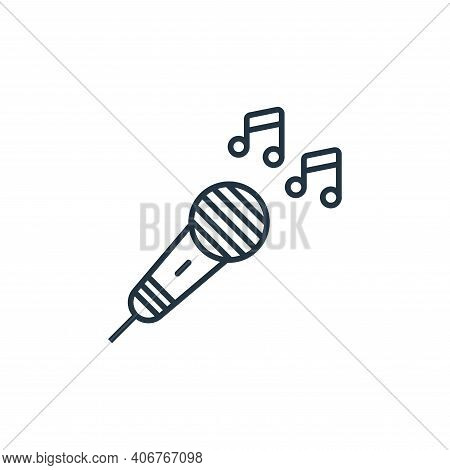microphone icon isolated on white background from music instruments collection. microphone icon thin