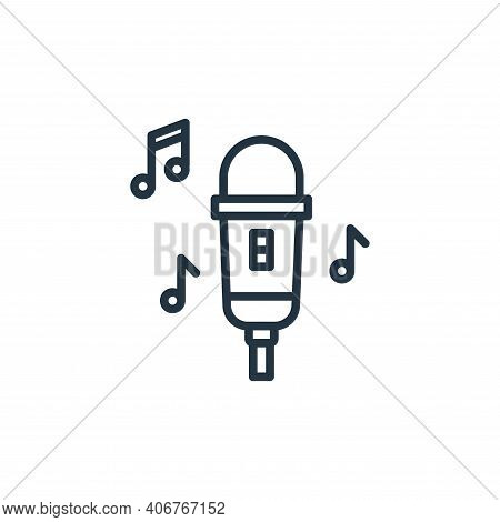 microphone icon isolated on white background from stay at home collection. microphone icon thin line