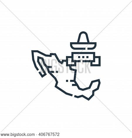 mexico icon isolated on white background from cinco de mayo collection. mexico icon thin line outlin